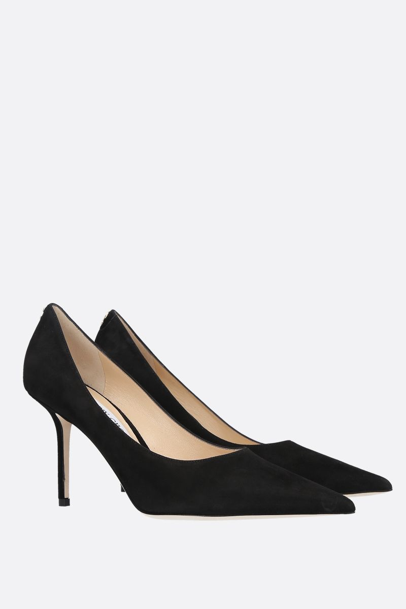 JIMMY CHOO: Love suede pumps Color Black_2
