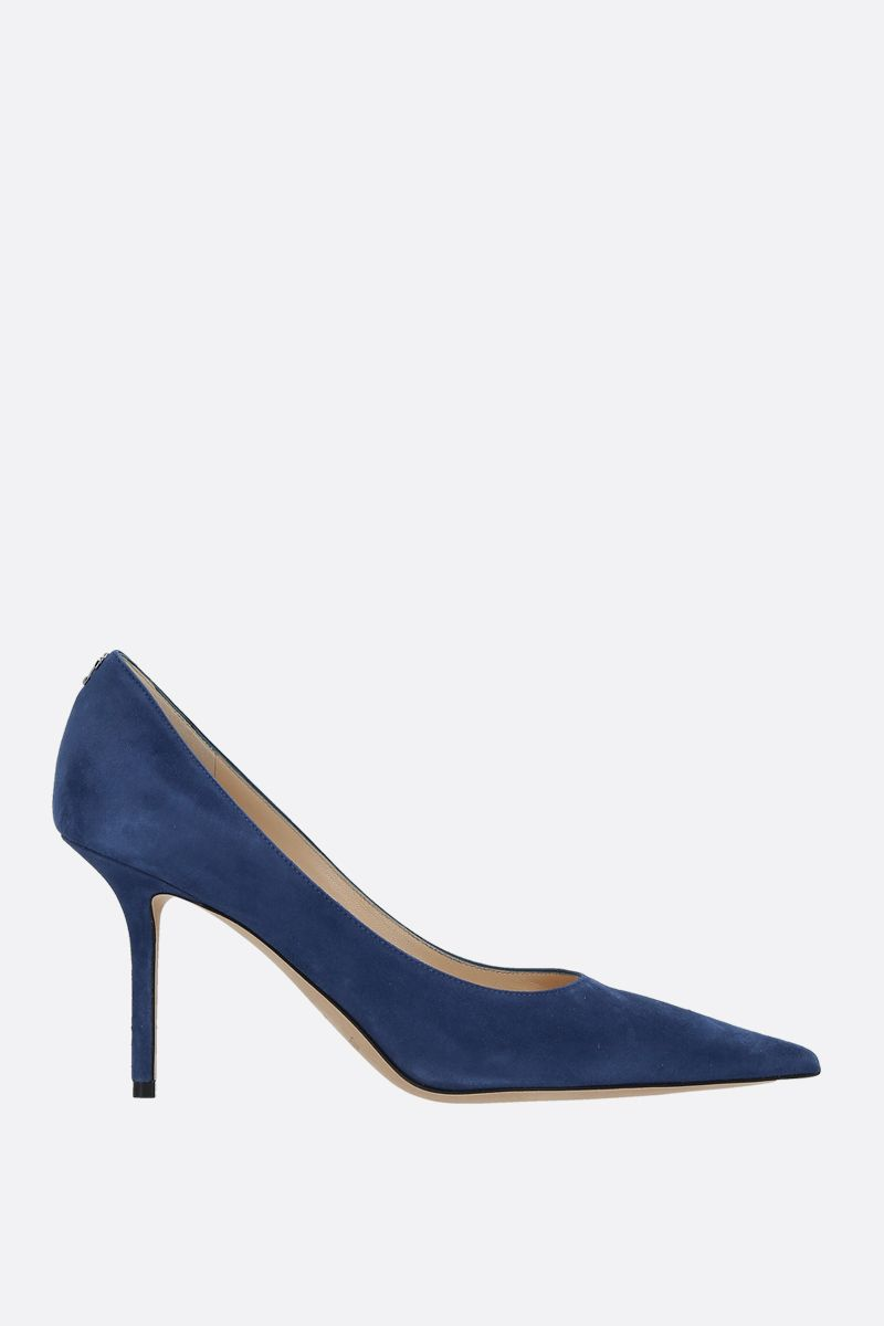 JIMMY CHOO: Love suede pumps Color Blue_1