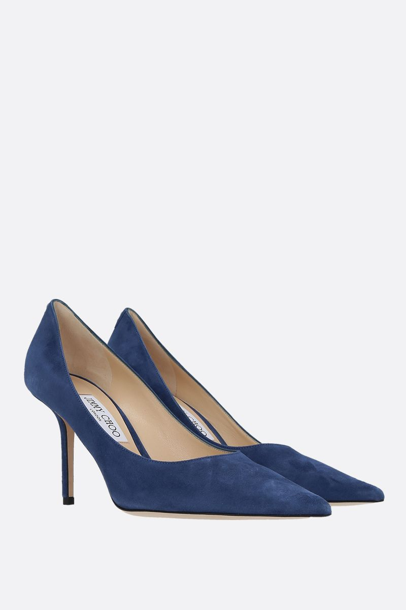 JIMMY CHOO: Love suede pumps Color Blue_2
