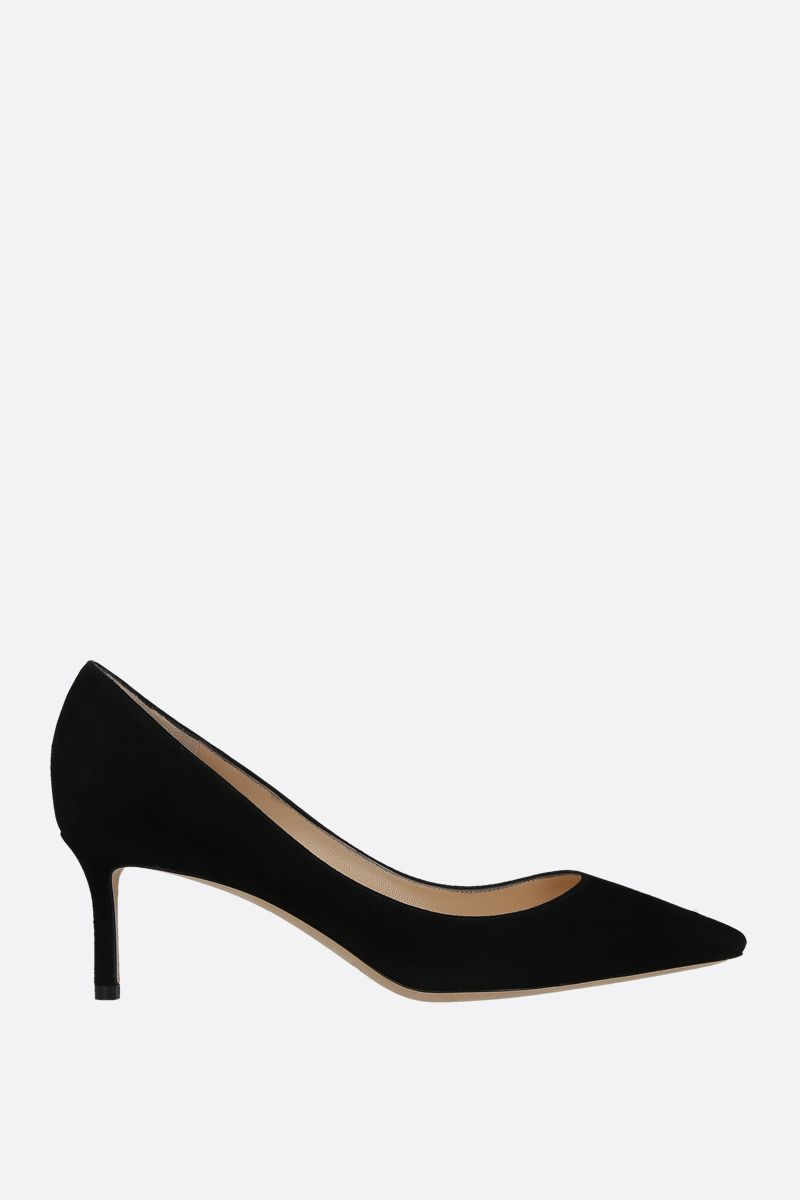 JIMMY CHOO: Romy suede pumps Color Black_1