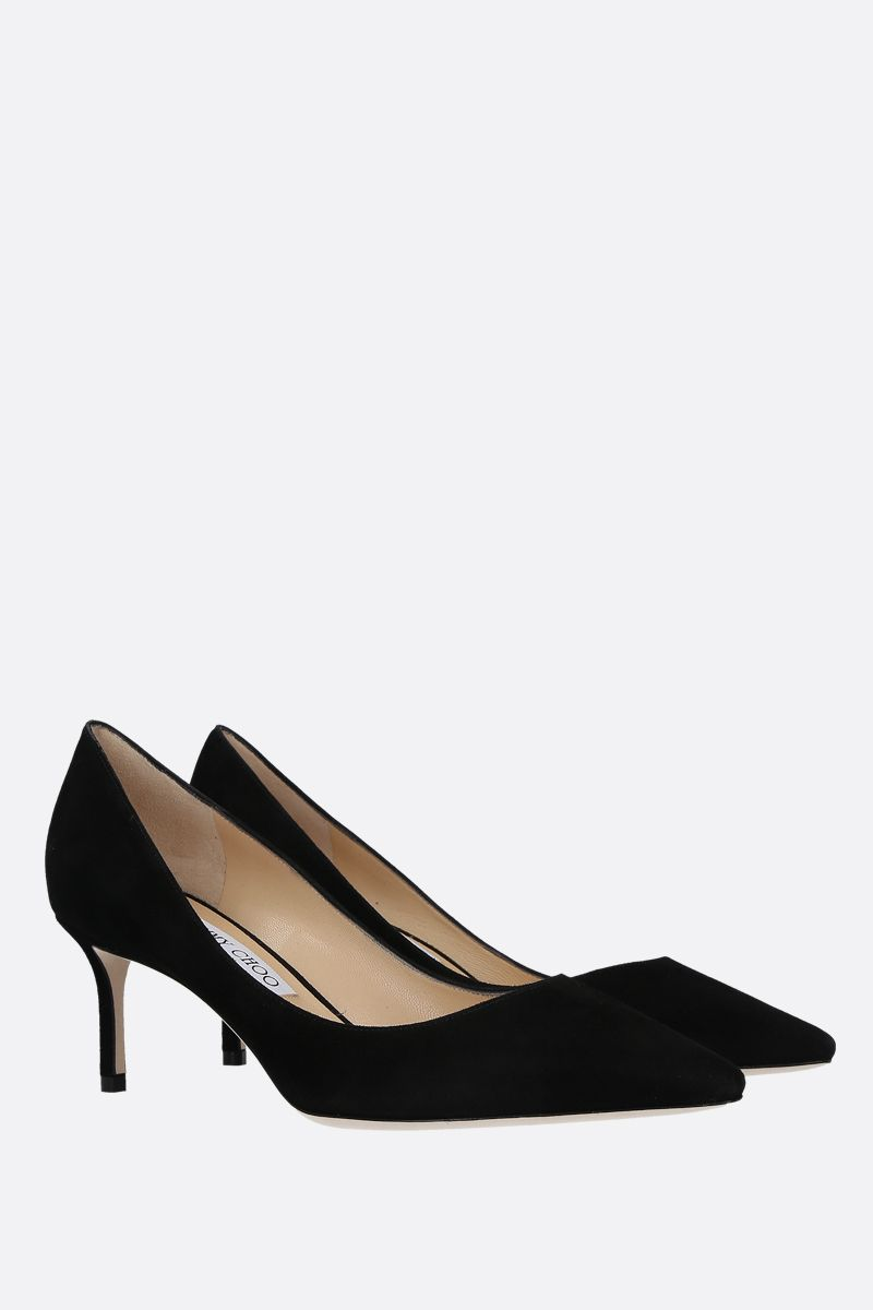 JIMMY CHOO: dècolletè Romy in suede Colore Nero_2