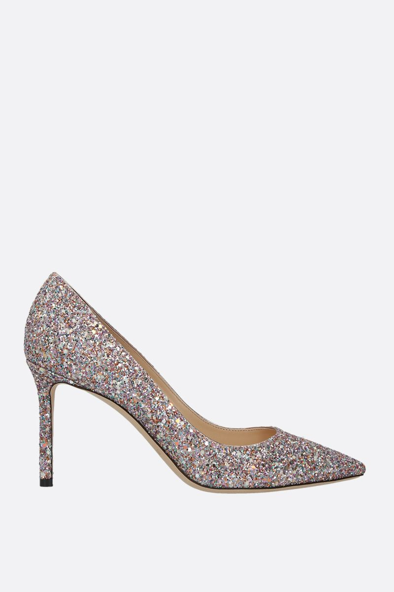 JIMMY CHOO: Romy glitter fabric pumps_1