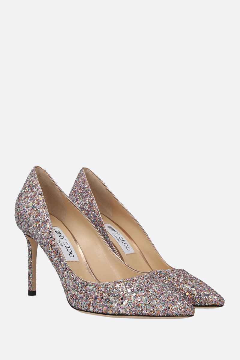 JIMMY CHOO: Romy glitter fabric pumps_2