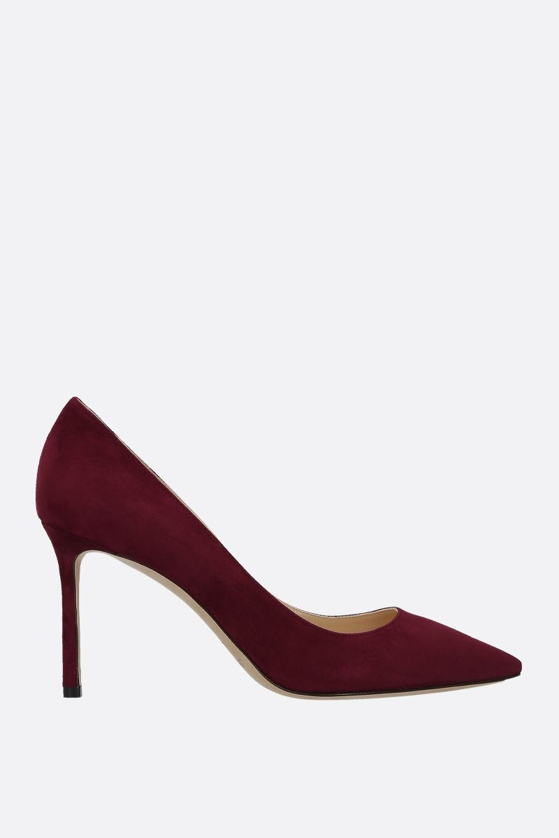 JIMMY CHOO: dècolletè Romy in suede Colore Rosso_1