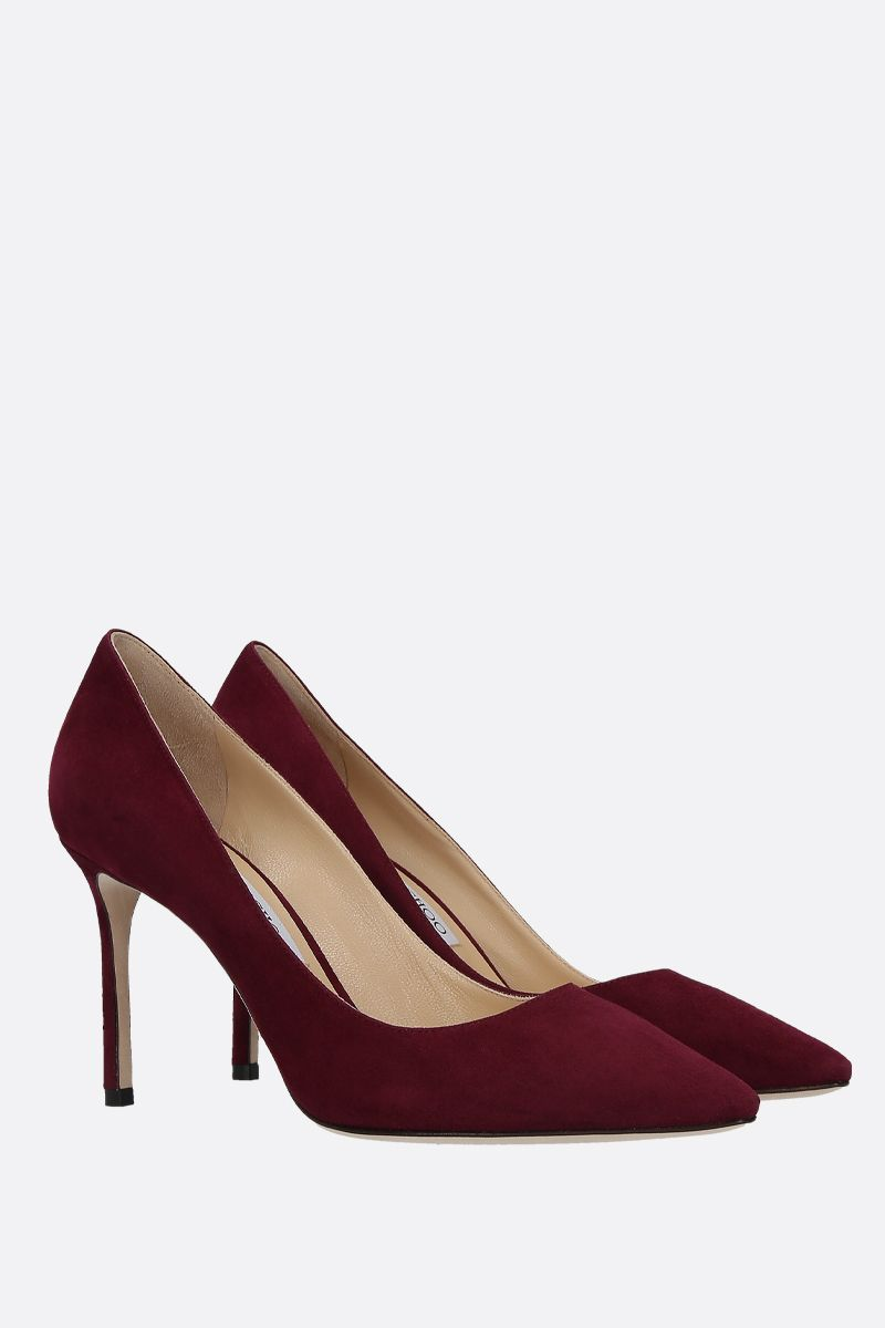 JIMMY CHOO: dècolletè Romy in suede Colore Rosso_2