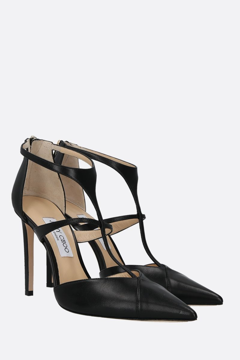 JIMMY CHOO: Saoni smooth leather pumps Color Black_2