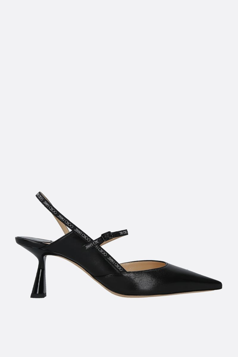 JIMMY CHOO: Ray nappa slingbacks Color Black_1