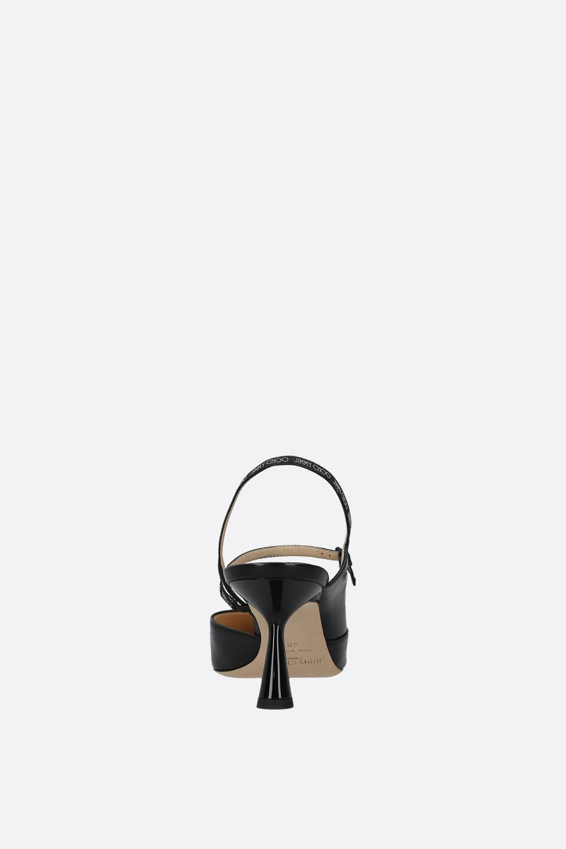 JIMMY CHOO: Ray nappa slingbacks Color Black_2
