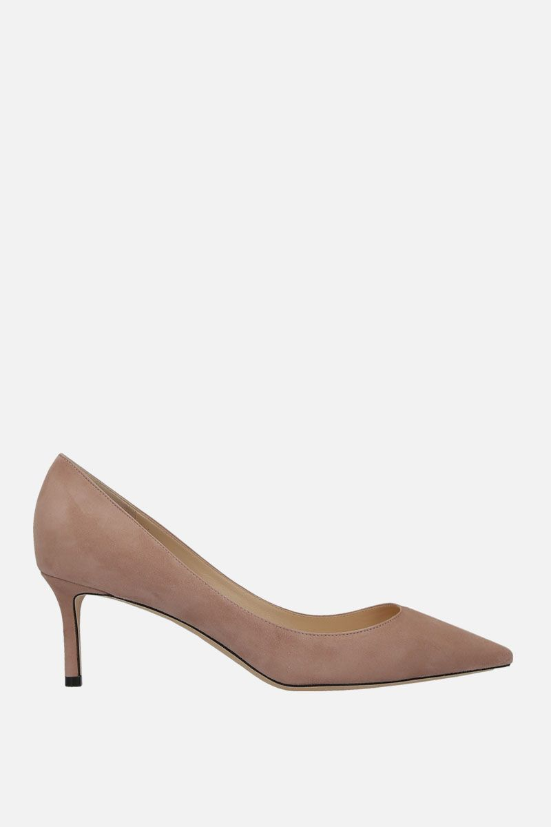 JIMMY CHOO: Romy suede pumps Color Pink_1