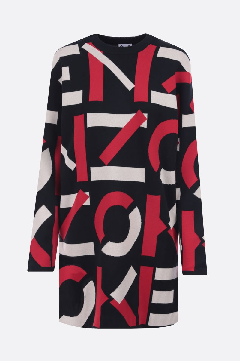 KENZO: Kenzo Sport cotton blend pullover dress Color Black_1
