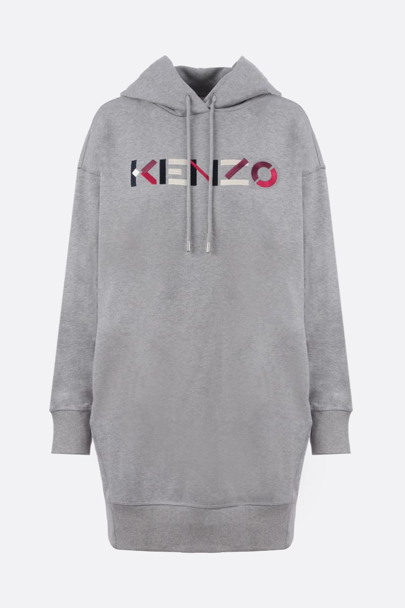 KENZO: Kenzo Logo cotton hoodie dress_1
