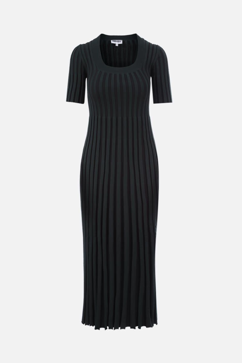 KENZO: pleated knit midi dress_1