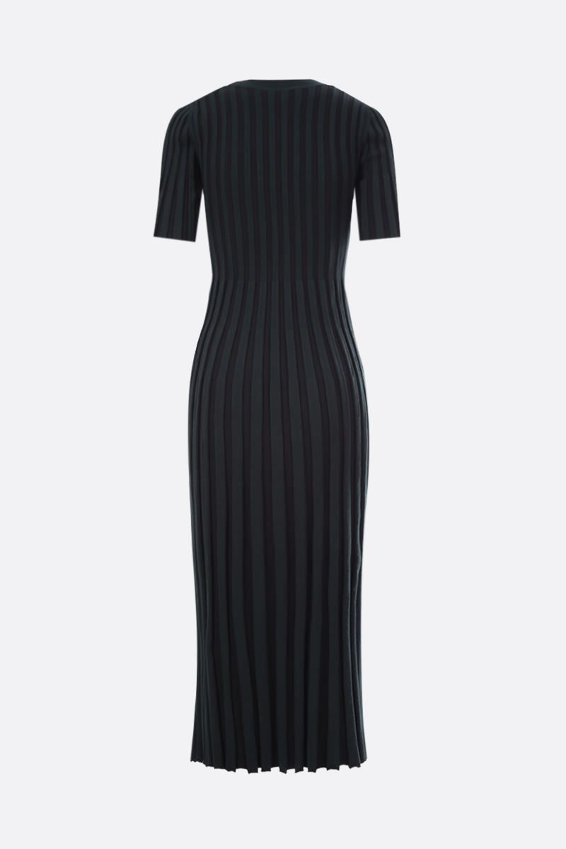KENZO: pleated knit midi dress_2
