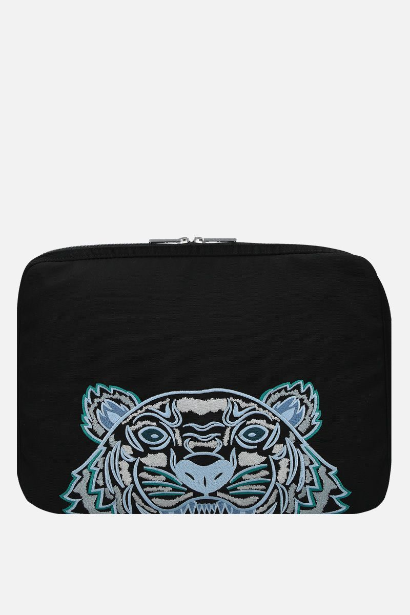 KENZO: Kampus Tiger nylon briefcase Color Black_1