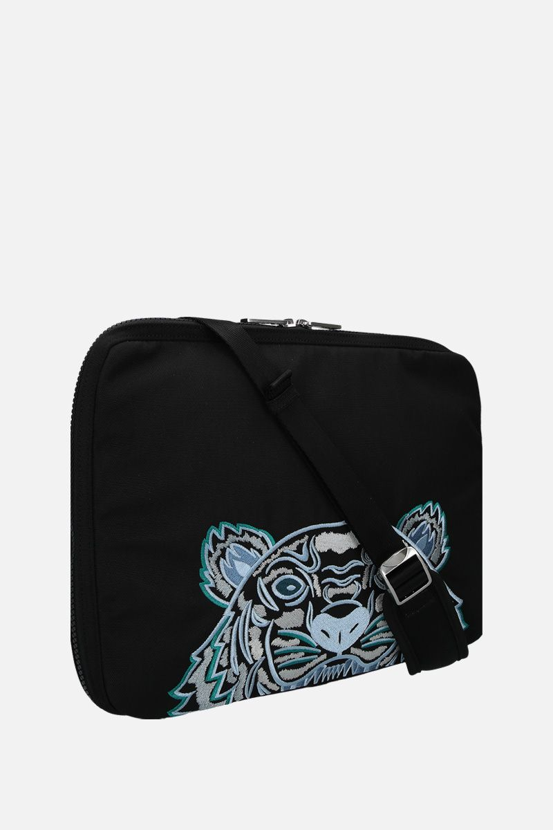 KENZO: Kampus Tiger nylon briefcase Color Black_2
