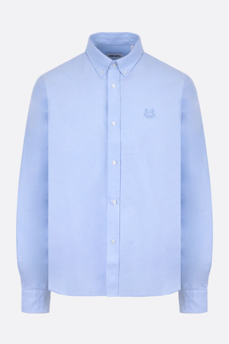 KENZO: Tiger Crest cotton shirt Color Blue_1