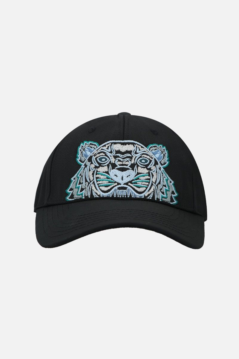 KENZO: cappellino baseball Kampus Tiger in nylon Colore Nero_1