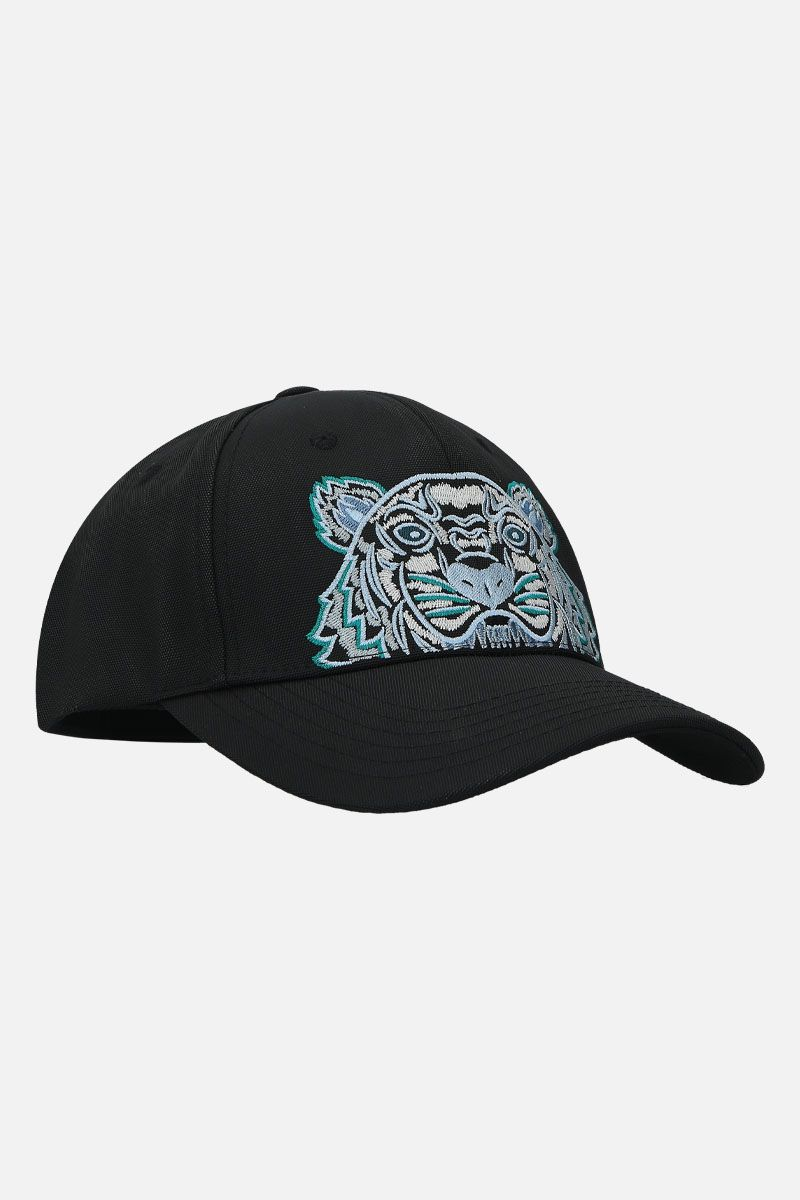 KENZO: cappellino baseball Kampus Tiger in nylon Colore Nero_2
