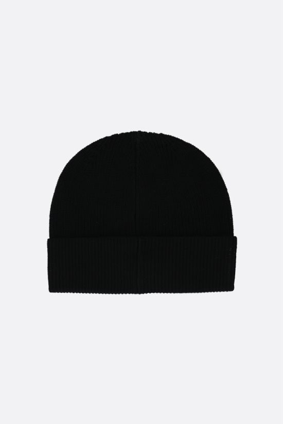 KENZO: Kenzo print ribbed wool beanie Color Black_2