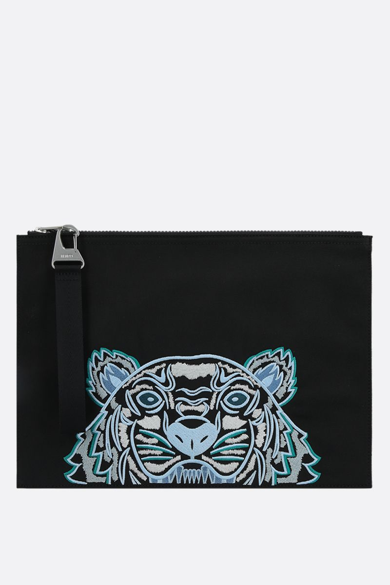 KENZO: Kampus Tiger nylon document holder Color Black_1