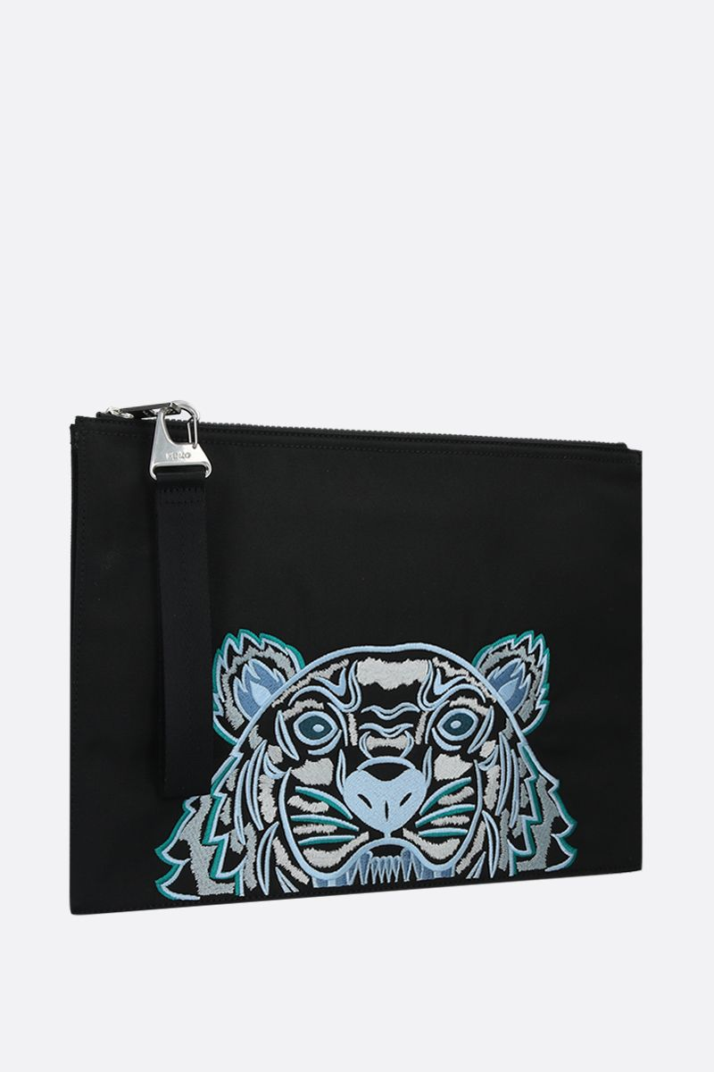KENZO: Kampus Tiger nylon document holder Color Black_2