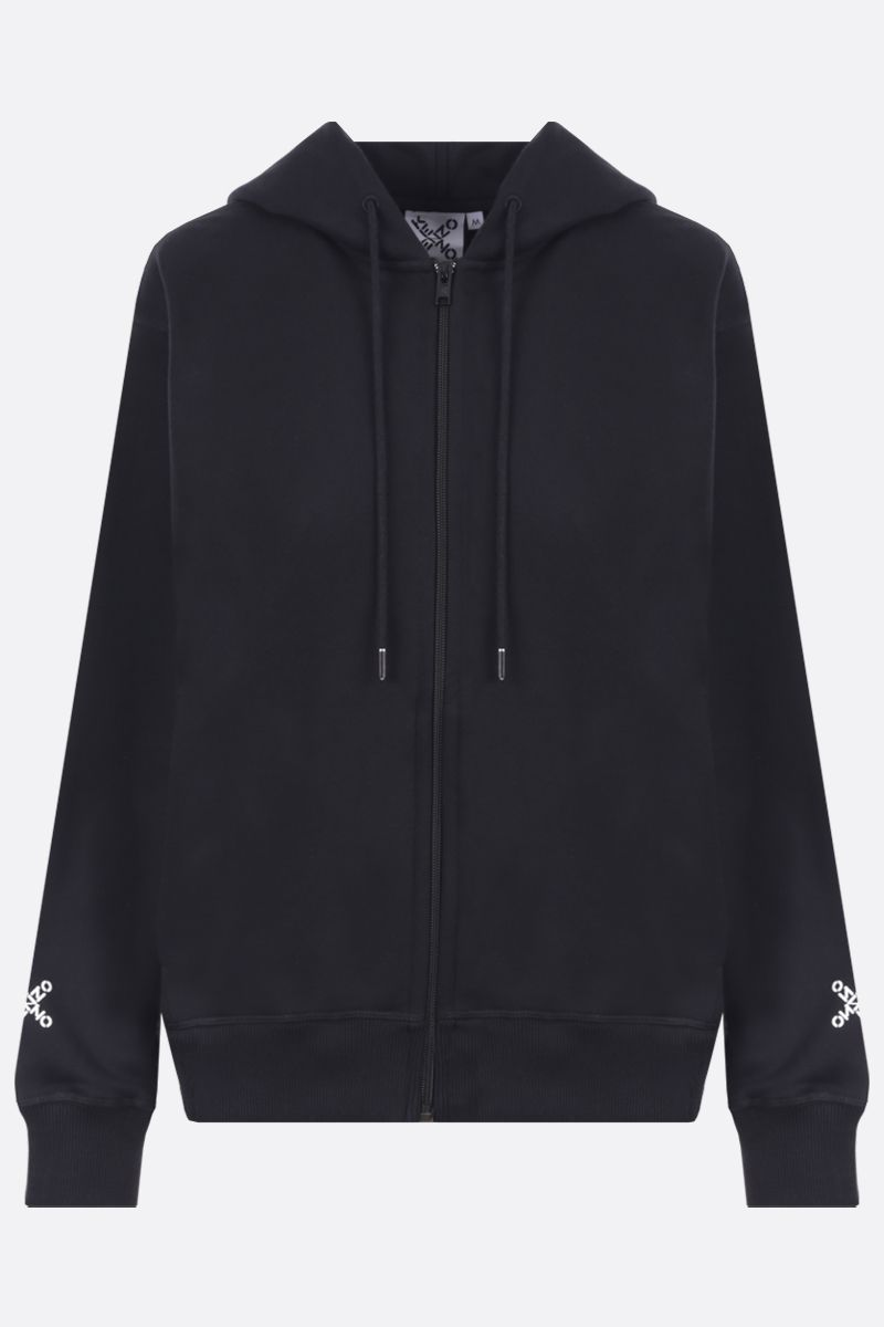 KENZO: Kenzo Sport cotton blend full-zip hoodie Color Black_1