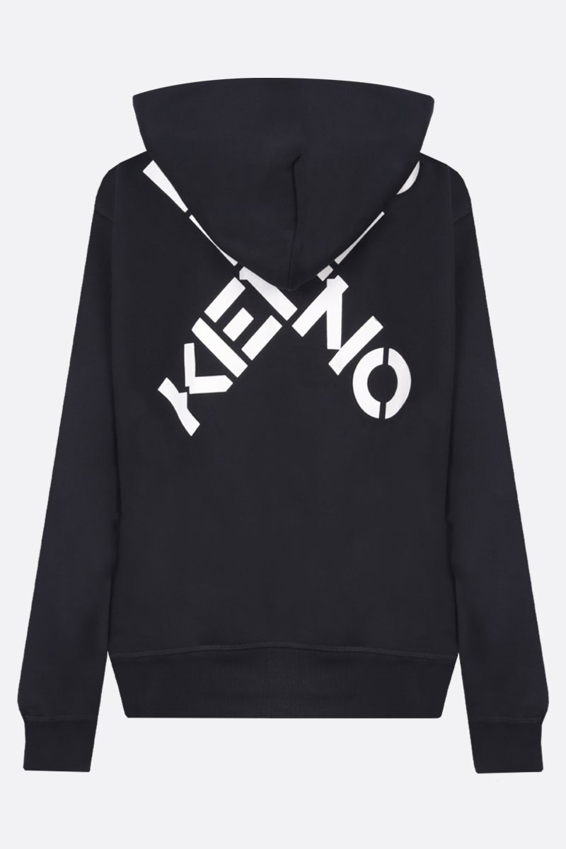 KENZO: Kenzo Sport cotton blend full-zip hoodie Color Black_2