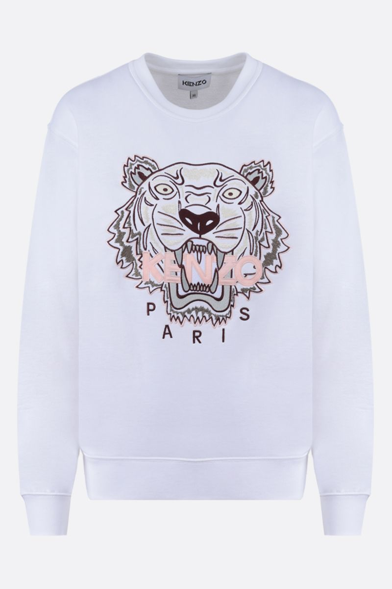 KENZO: Tiger cotton sweatshirt Color White_1