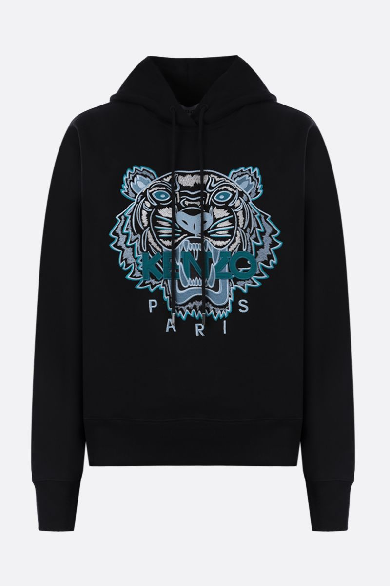 KENZO: Tiger cotton hoodie Color Black_1