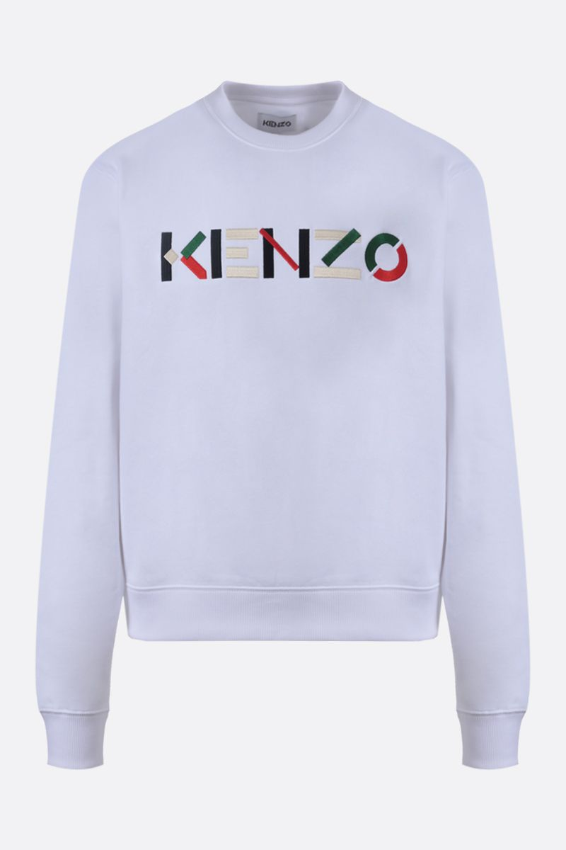 KENZO: Kenzo Logo cotton sweatshirt Color White_1