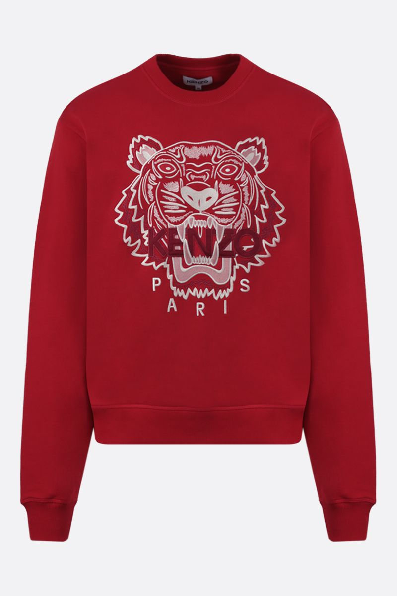KENZO: Tiger cotton sweatshirt Color Red_1