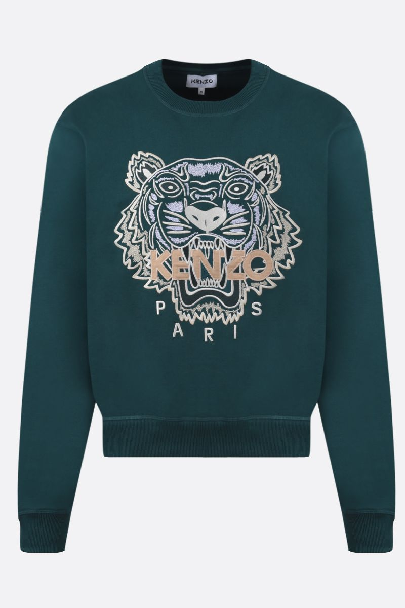 KENZO: Tiger cotton sweatshirt Color Green_1