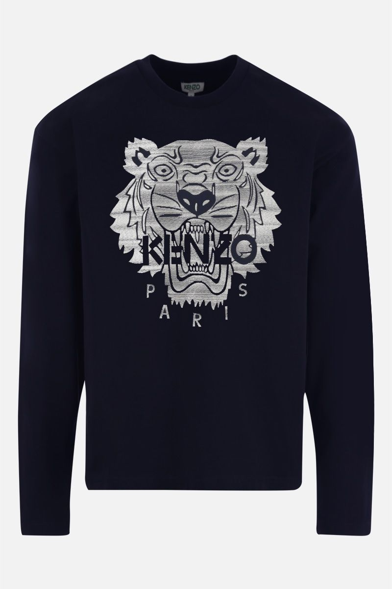 KENZO: Tiger cotton sweatshirt Color Blue_1