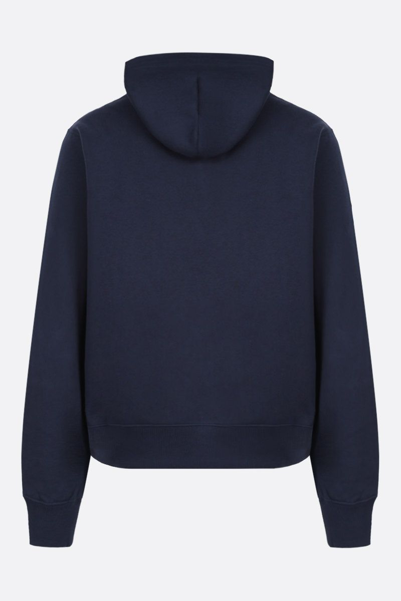 KENZO: Kenzo Logo cotton hoodie Color Blue_2