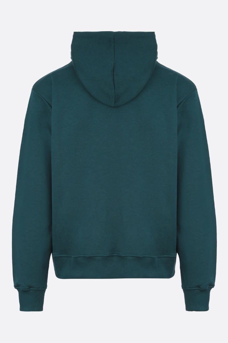 KENZO: Tiger cotton hoodie Color Green_2
