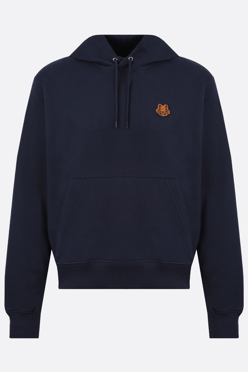 KENZO: Tiger Crest cotton hoodie Color Blue_1