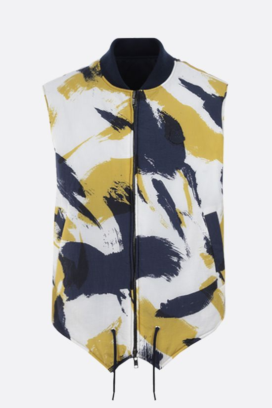 KENZO: gilet reversibile in canvas tecnico e nylon Colore Blu_1