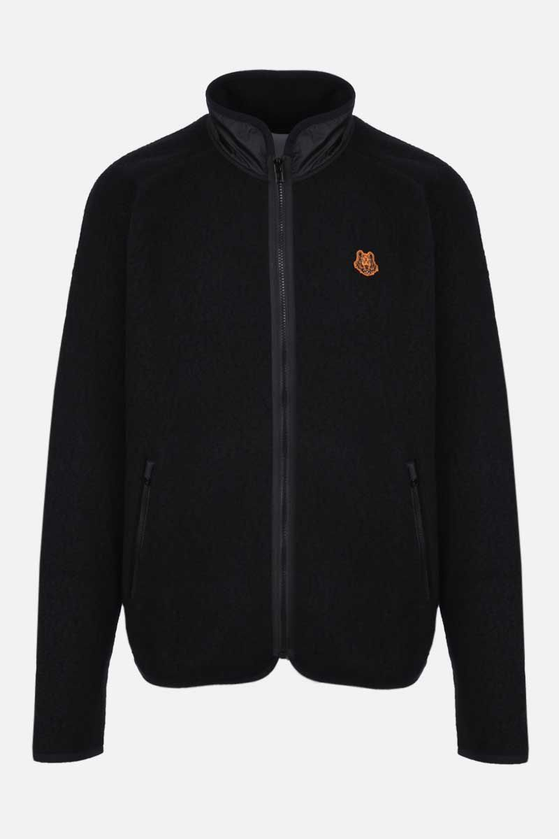 KENZO: Tiger Crest fleece full-zip jacket Color Black_1
