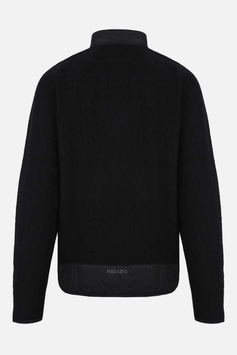 KENZO: Tiger Crest fleece full-zip jacket Color Black_2