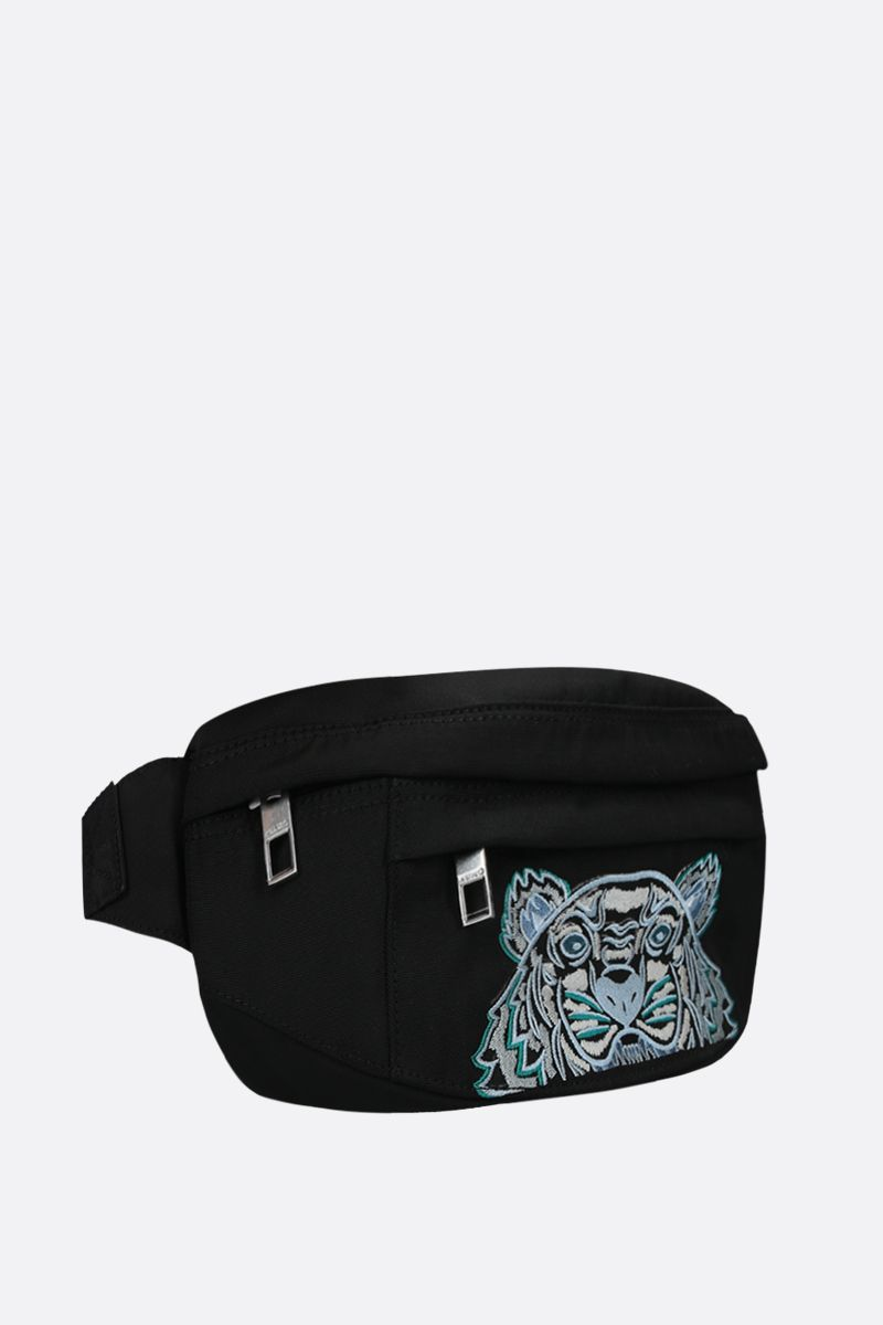 KENZO: marsupio Kampus Tiger small in nylon Colore Nero_2