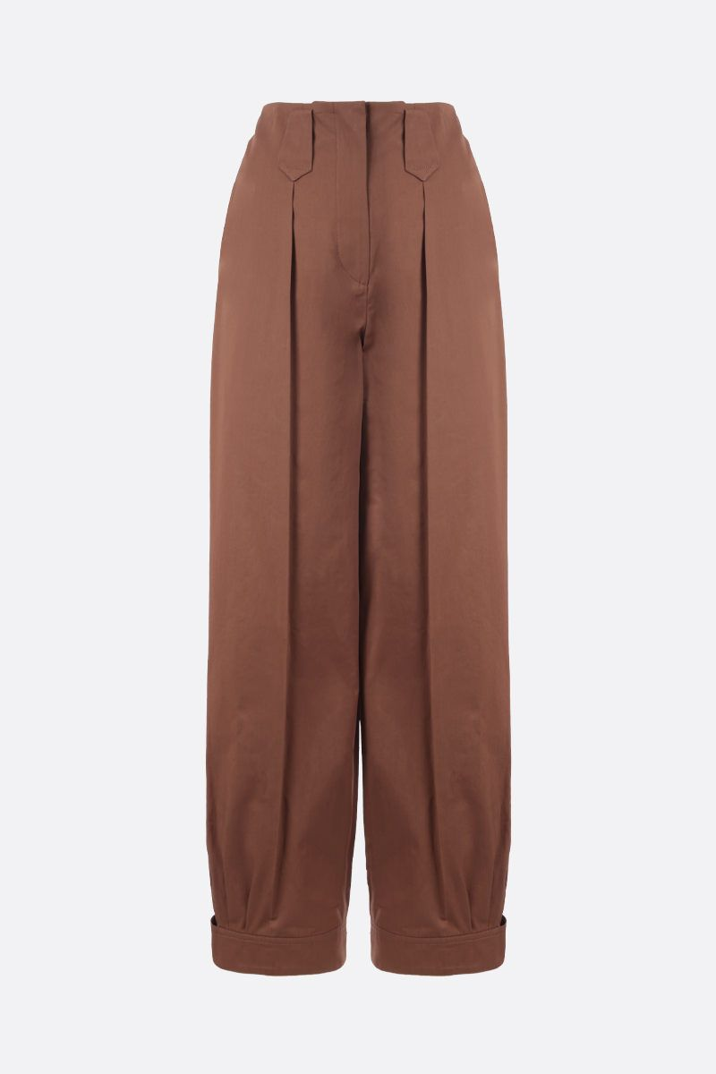 KENZO: cotton carrot-fit pants Color Brown_1