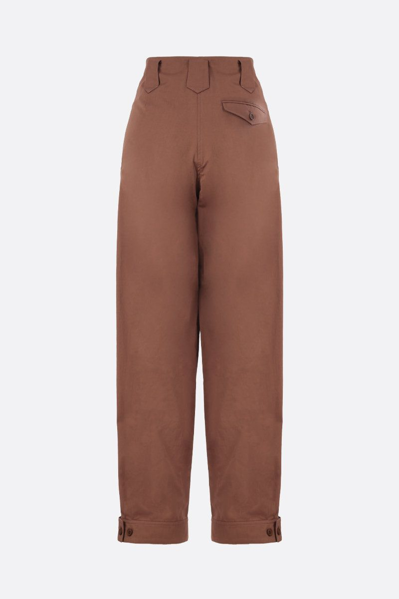 KENZO: cotton carrot-fit pants Color Brown_2