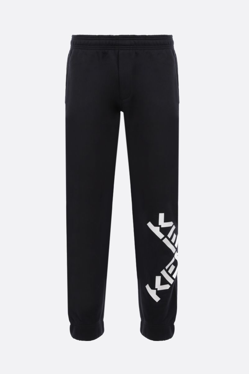 KENZO: Kenzo Logo cotton blend joggers Color Black_1