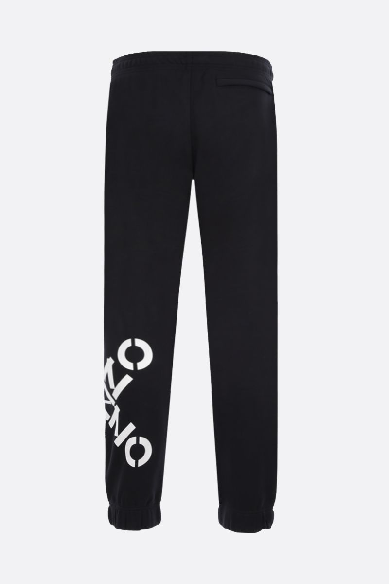 KENZO: Kenzo Logo cotton blend joggers Color Black_2