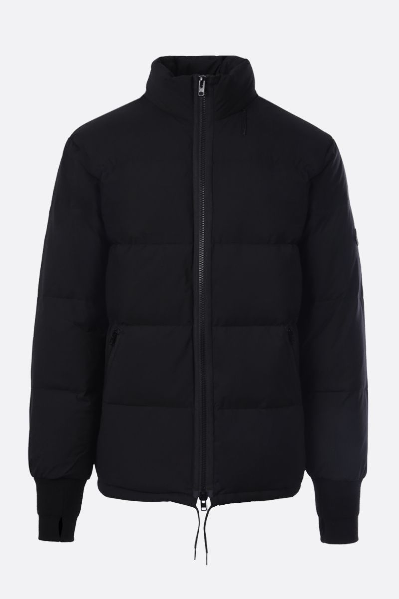 KENZO: Tiger Crest patch technical fabric down jacket Color Black_1