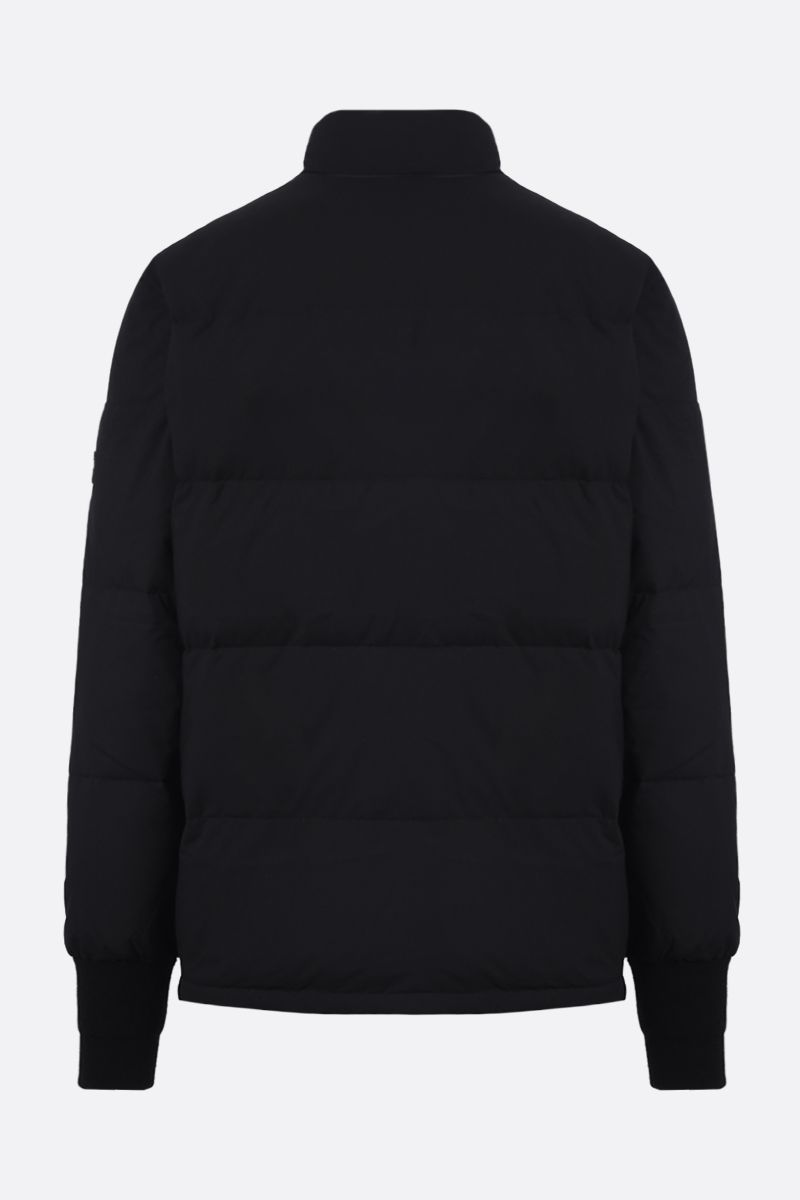 KENZO: Tiger Crest patch technical fabric down jacket Color Black_2