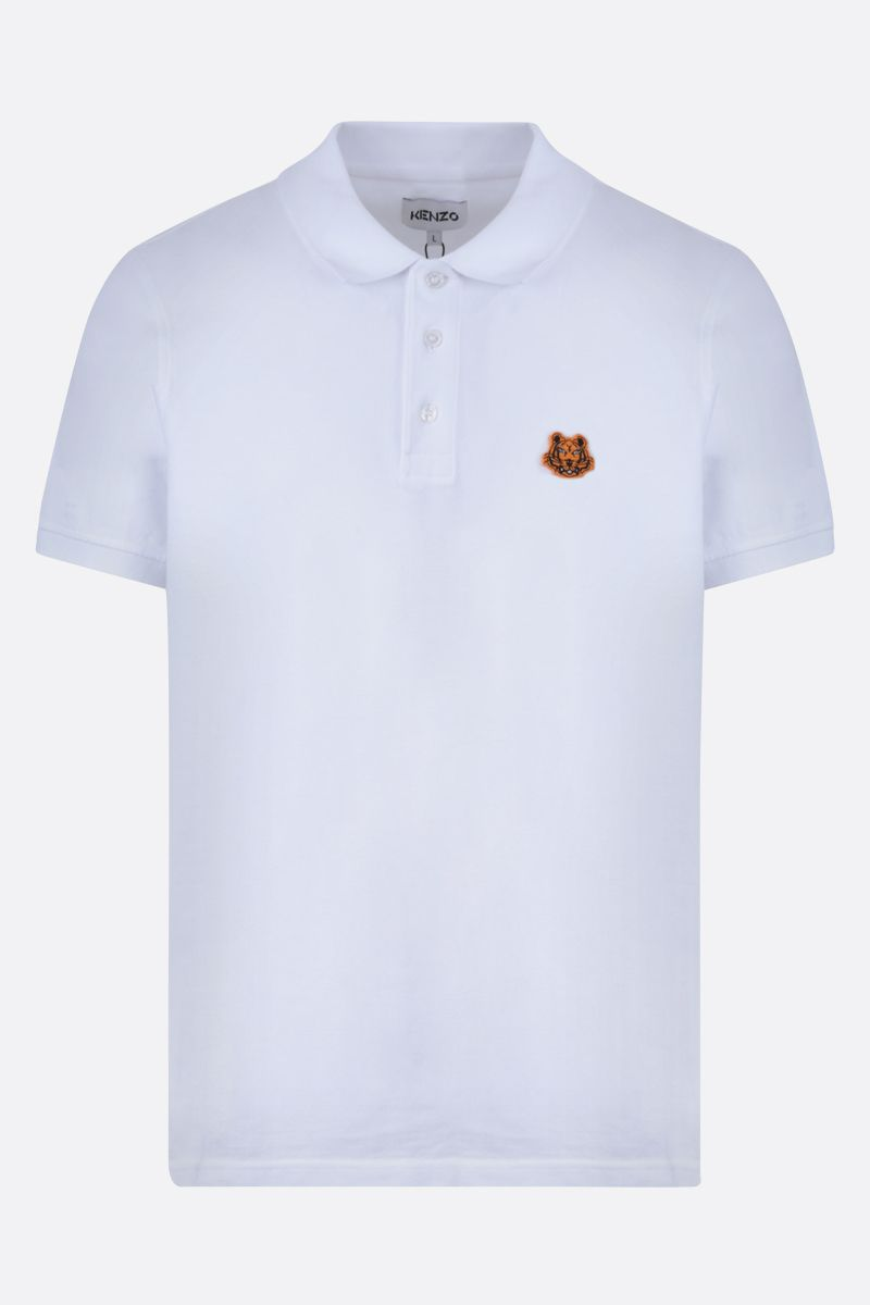 KENZO: Tiger Crest cotton polo shirt Color White_1