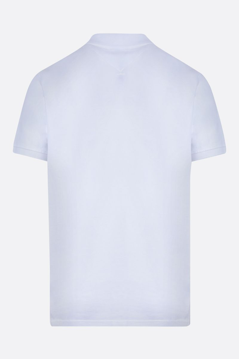 KENZO: Tiger Crest cotton polo shirt Color White_2
