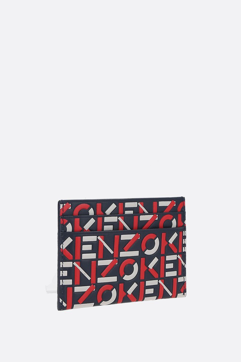 KENZO: Kenzo embossed leather card holder Color Multicolor_2