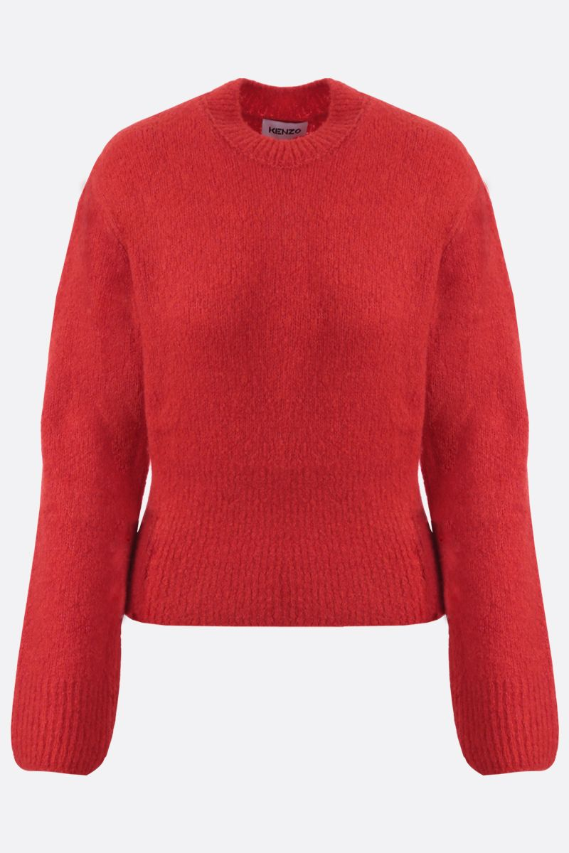 KENZO: K patch wool cashmere blend pullover Color Red_1